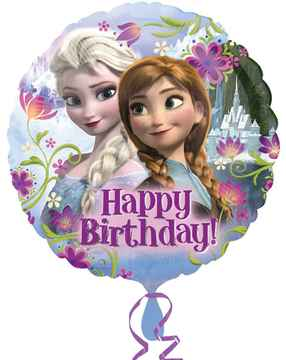 Folieballon Frozen 'Happy Birthday 43cm
