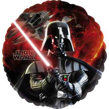 Folieballon Star Wars junior 43 cm zwart