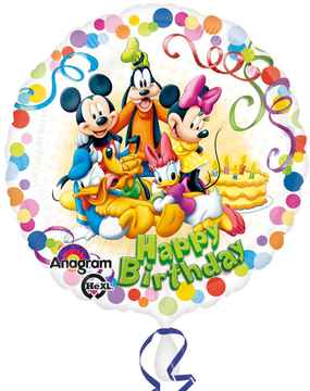 Folieballon Mickey and friends 'Happy Birthday' 43cm