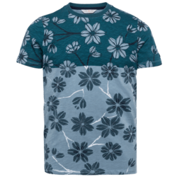 TWO TONE FLOWER T-SHIRT