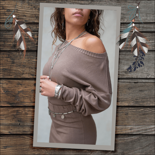 MOOST Wanted Bella Sweater Ash Brown