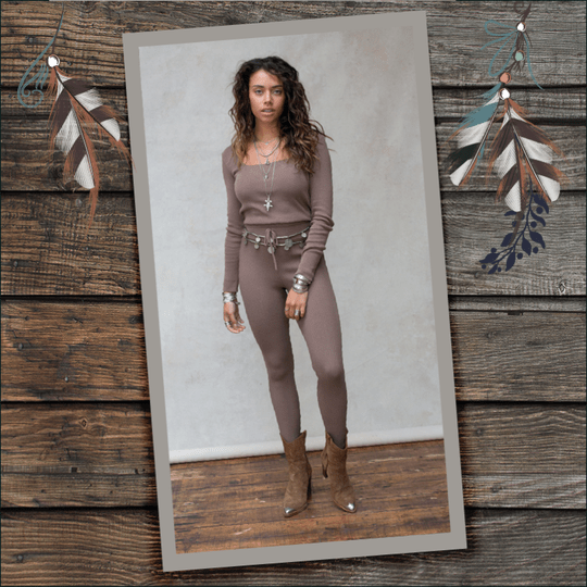 MOOST Wanted Fierce Knitted Pants Ash Brown