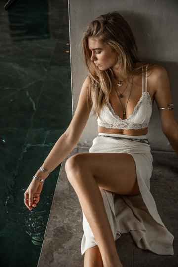 Moost Wanted Linde Bralette Off White