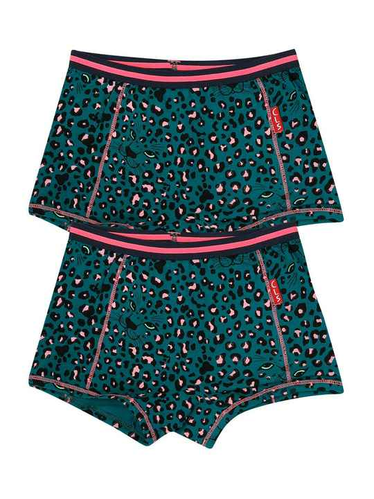 Claesen's Fashion Boxers 2-pack Green Panther