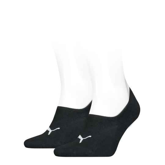 Puma Basic Footies 2-pack Black