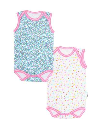 Claesen's Fashion Romper 2-pack Panther Hearts