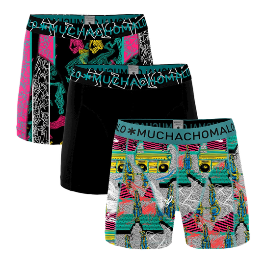 Muchachomalo Boys Boxers 3-pack Boom Bap