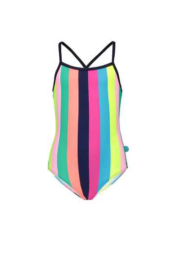 JustBeach Girls Swimsuit Tropical Stripes