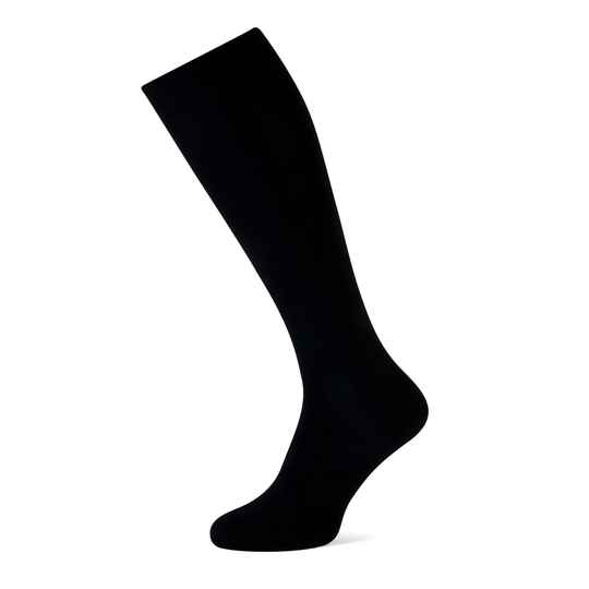 Marcmarcs Basic Wool Cotton Kniekous 1-pack Black
