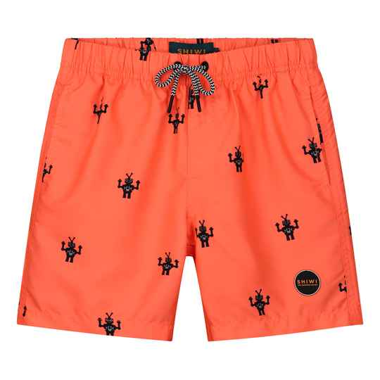 Shiwi Boys Swimshort Robot Neon Orange