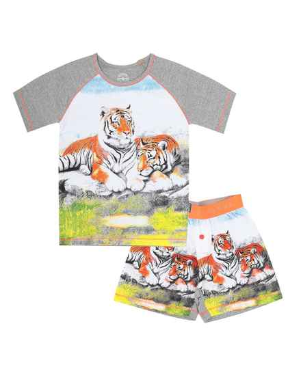 Claesen's Baby Boys Fashion Shortama Tiger