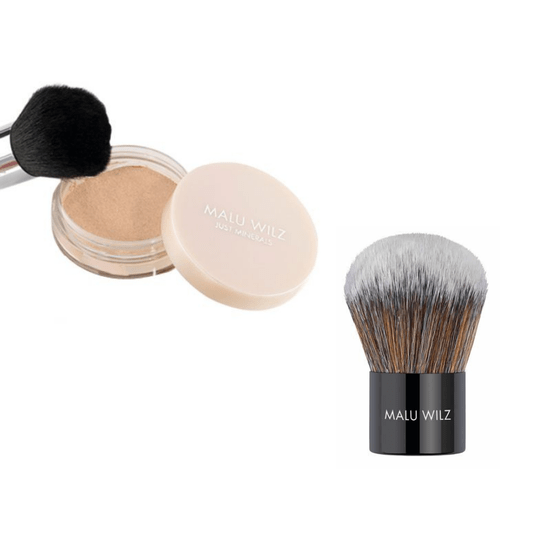 Malu Wilz Just Minerals Powder Foundation & Kabuki Brush