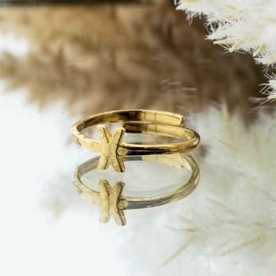 Imotionals One Size Letter Ring X Goud