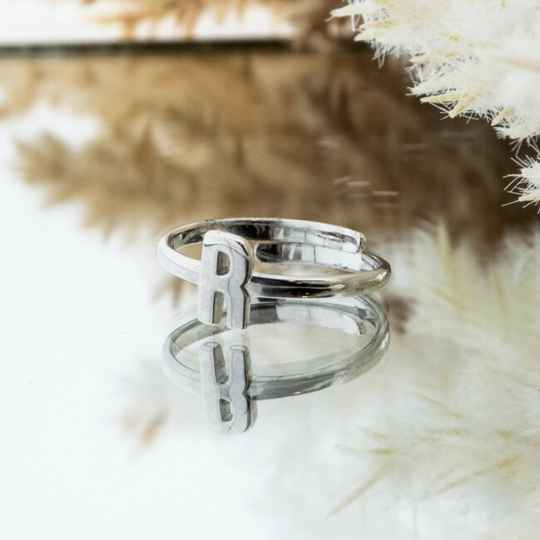 Imotionals One Size Letter Ring R Zilver