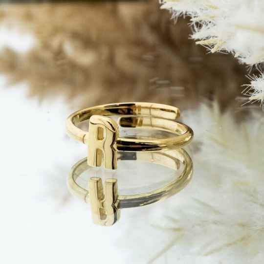 Imotionals One Size Letter Ring R Goud