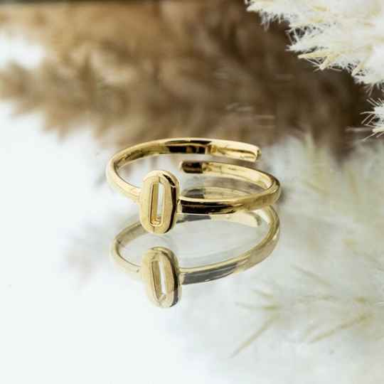 Imotionals One Size Letter Ring O Goud