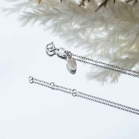 Imotionals Ketting Anker Zilver