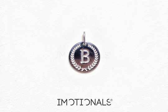 Imotionals Coin Hanger Letter B Zilver