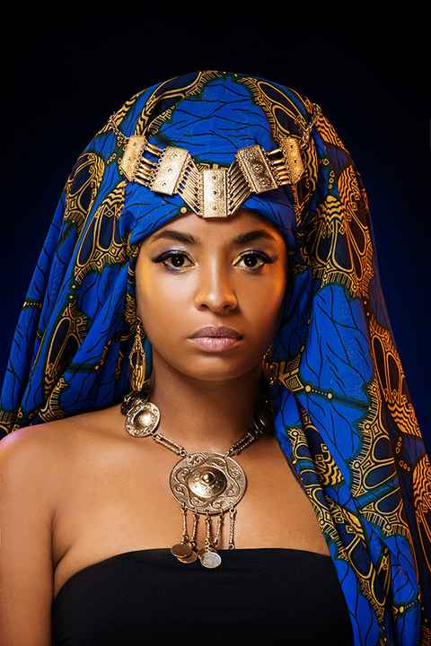 Blue Sahara head piece