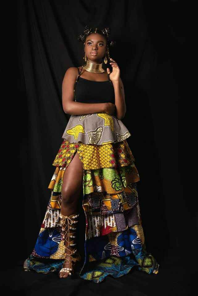 African layers skirt