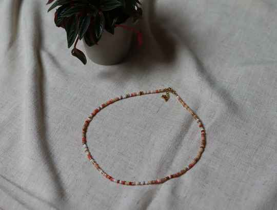 Beaded Neclace - Colour Nude Mix