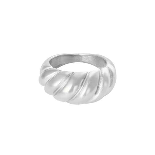 Baguette ring silver