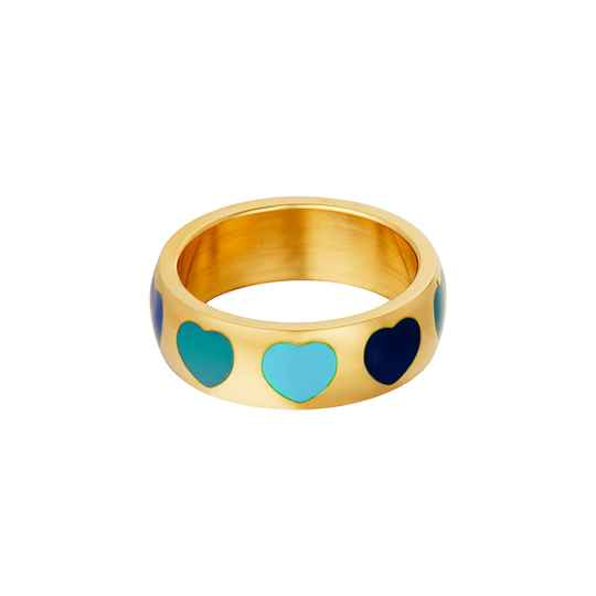 Blue hearts ring