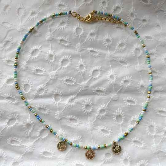 Minty coin necklace