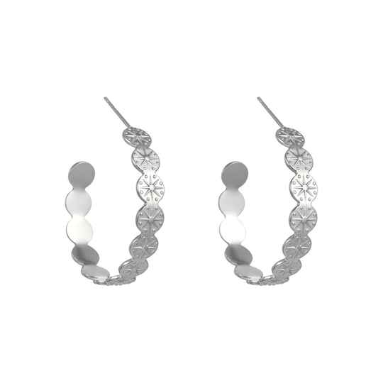Genevieve large hoops silver