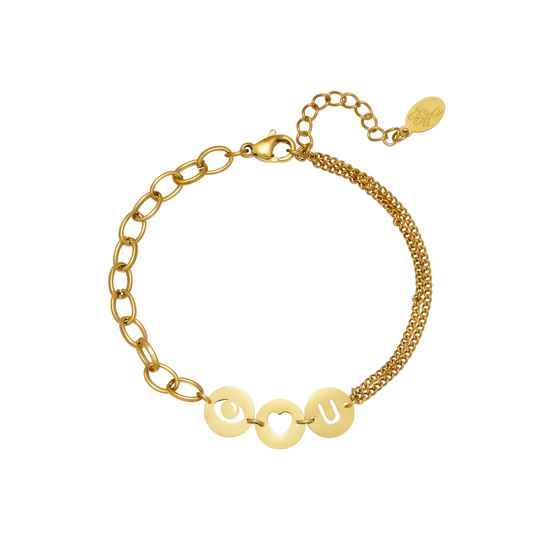 Eyes on you bracelet gold