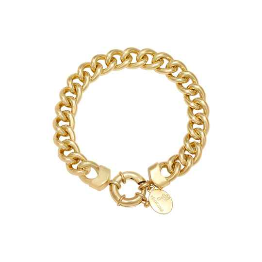 Chain holly bracelet gold