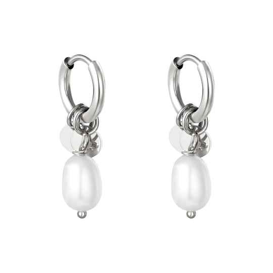 Pearly earrings silver