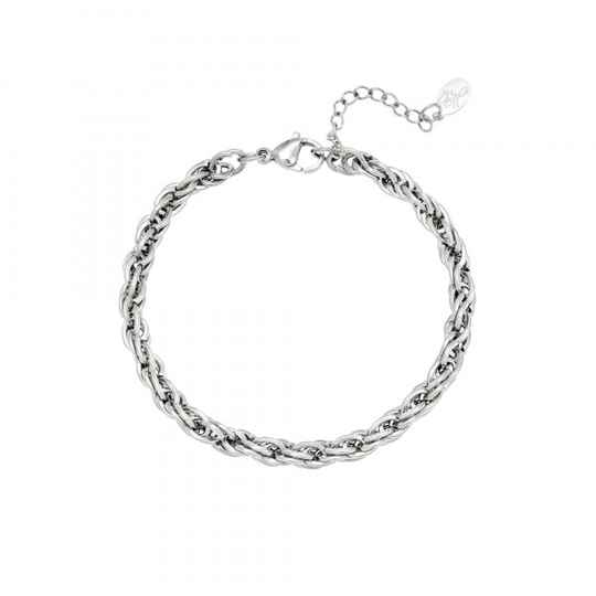 Twisted chain bracelet silver