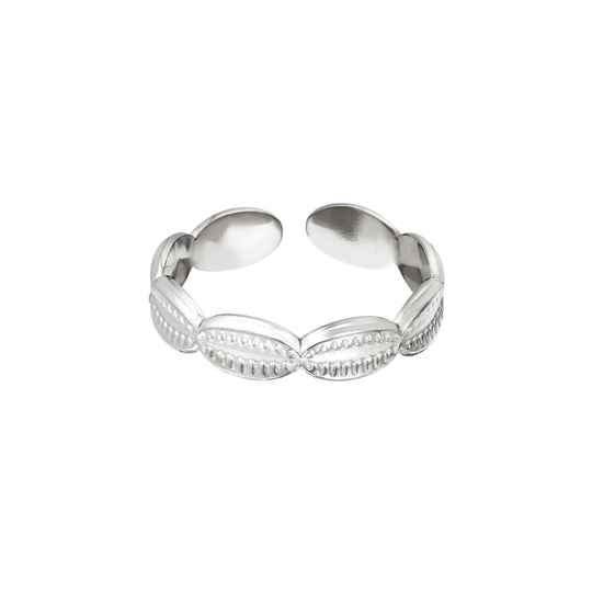 Shell ring silver