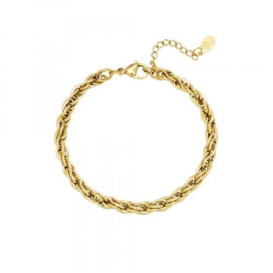 Twisted chain bracelet gold