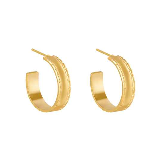 Charmed hoops gold