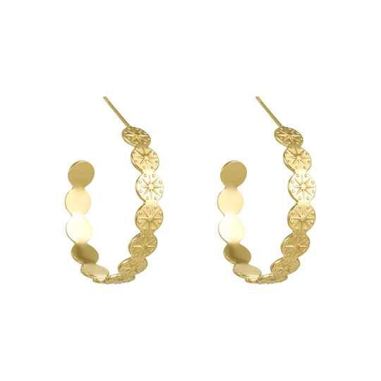 Genevieve large hoops gold