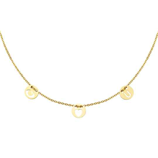 Eyes on you necklace gold