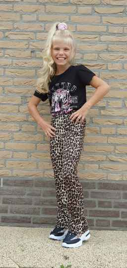 Flair pants leopard