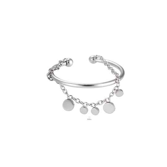 2-layer ring silver