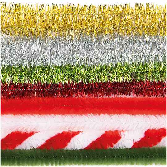 CHENILLE STICK RED-GREEN MIX