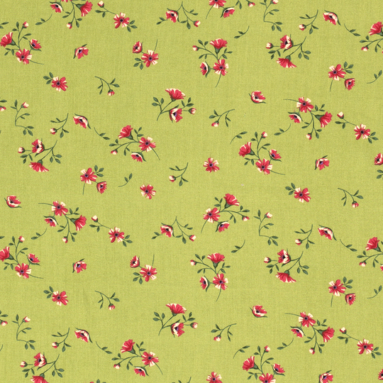 Viscose flowers green