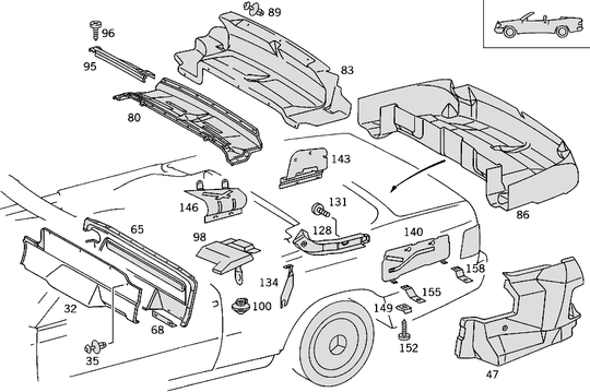 Luggage Compartment W124 Convertible [PRO000937]