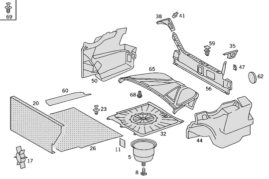 Luggage Compartment Covering W124 [PRO001166]