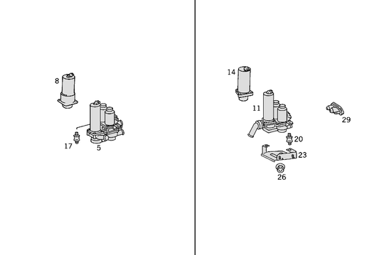 Heating Water Connection W140  [PRO001100]