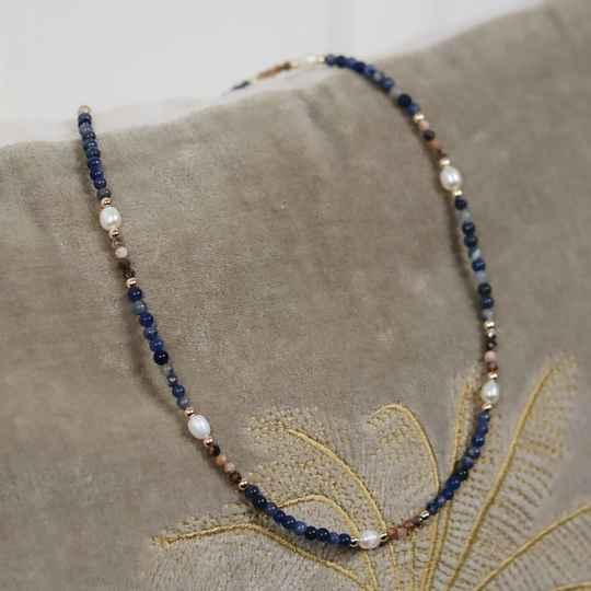 Mixed sodalite necklace