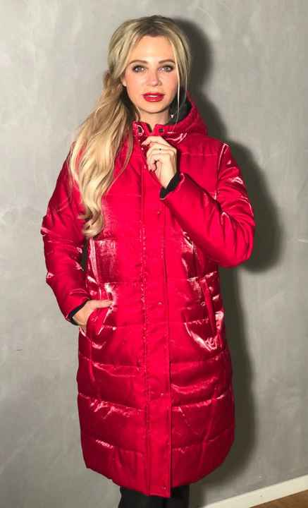 Chrissy Puffy Coat Red