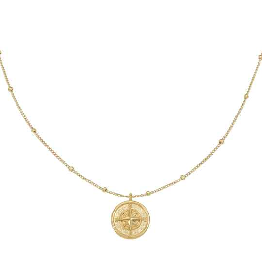 Compass Necklace gold