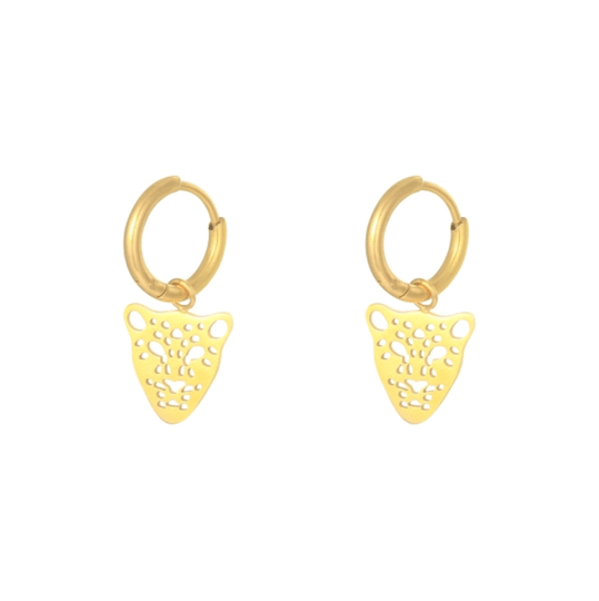 Panther Earrings gold