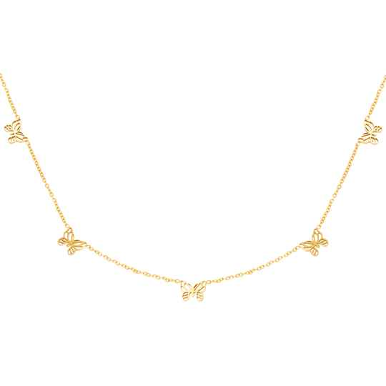 Little Butterfly Necklace gold